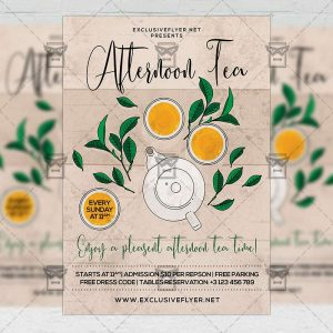 Afternoon Tea - Flyer PSD Template