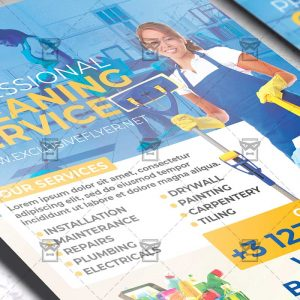 Cleaning Service - Flyer PSD Template