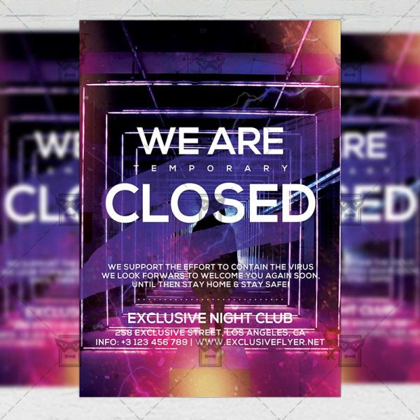 Club Closed - Flyer PSD Template
