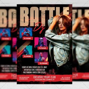 Dj Battle - Flyer PSD Template