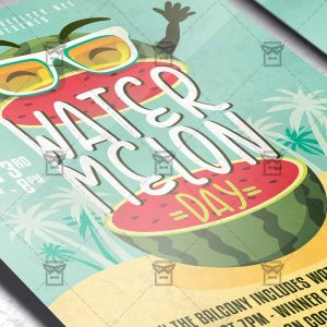 National Watermelon Day - Flyer PSD Template