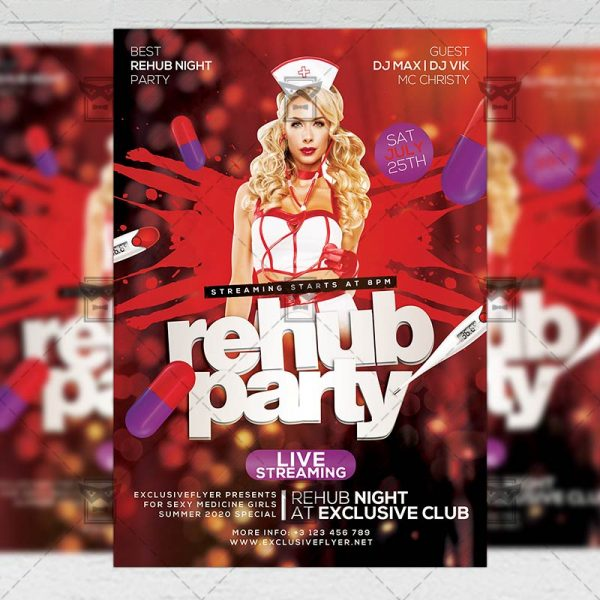 Rehub Live Party - Flyer PSD Template