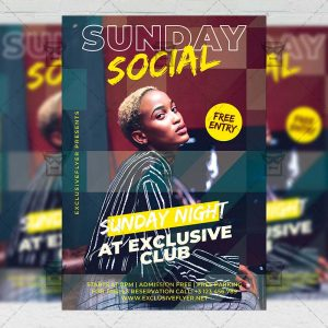 Sunday Social - Flyer PSD Template