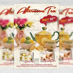 Sundays Afternoon Tea - Flyer PSD Template