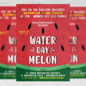 Watermelon Day - Flyer PSD Template