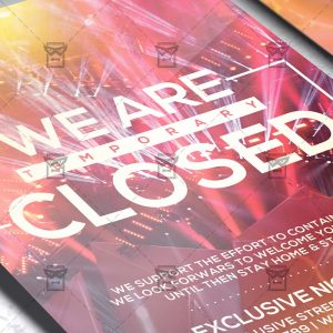 We Are Closed - Flyer PSD Template