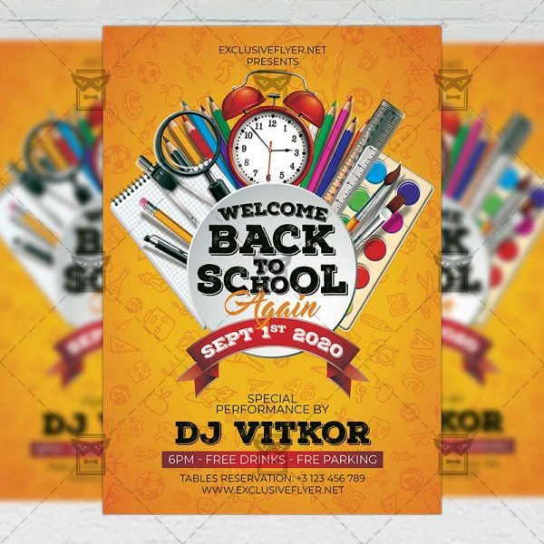 Back to School Again - Flyer PSD Template