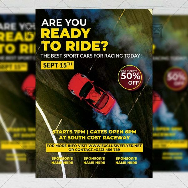 Car Racing - Flyer PSD Template