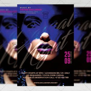 Casual Night - Flyer PSD Template