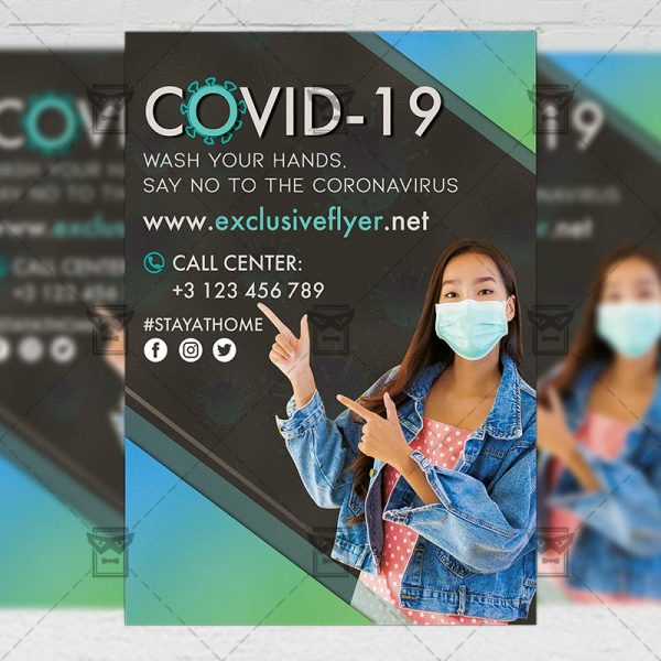 Covid-19 - Flyer PSD Template