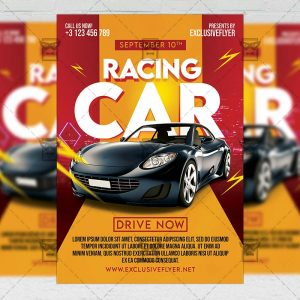 Drag Racing - Flyer PSD Template