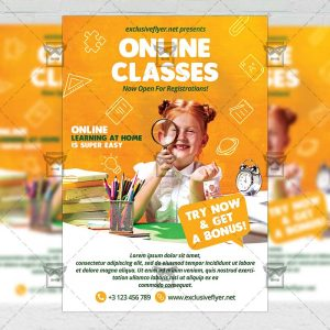 Online Classes - Flyer PSD Template