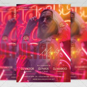 Ultra Night - Flyer PSD Template