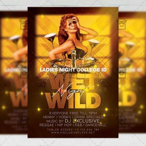 Wet Wild Night - Flyer PSD Template