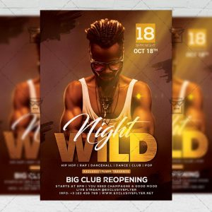Wild Night - Flyer PSD Template