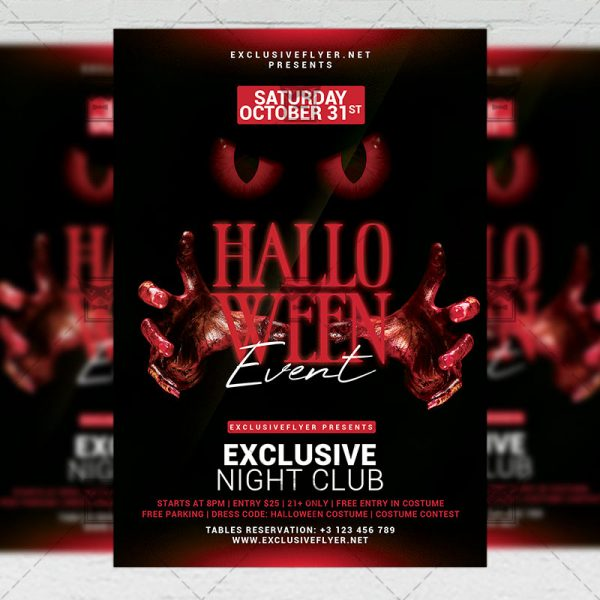 Halloween Event - Flyer PSD Template