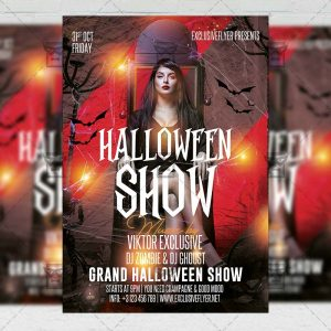Halloween Show - Flyer PSD Template