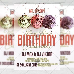 Happy Birthday Celebration - Flyer PSD Template