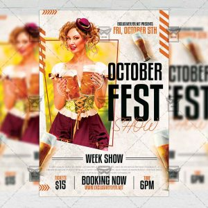 Octoberfest Show - Flyer PSD Template