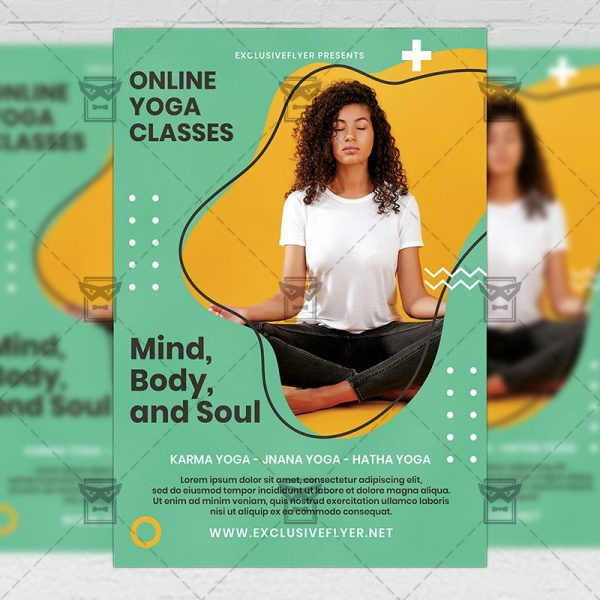 Online Yoga - Flyer PSD Template