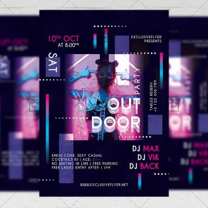 Outdoor Party - Flyer PSD Template