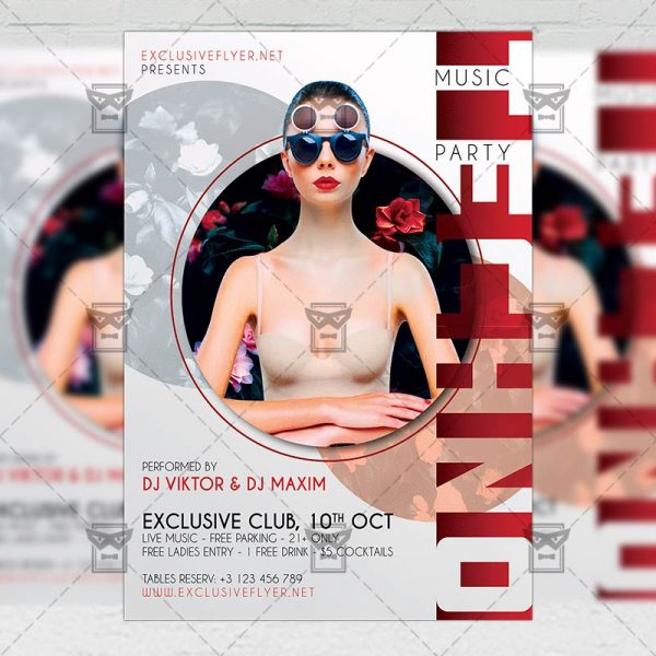 Techno Music Party - Flyer PSD Template