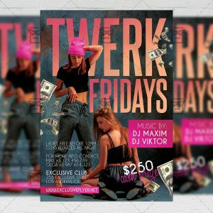 Twerk Fridays - Flyer PSD Template