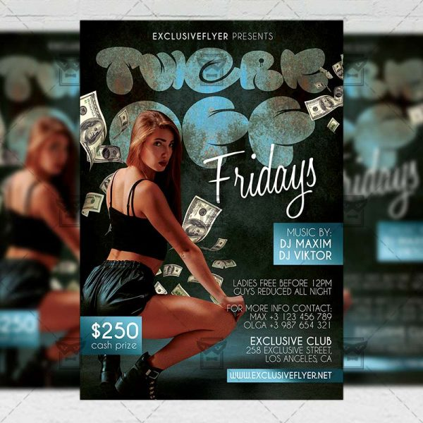 Twerk Off - Flyer PSD Template