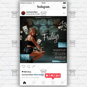 Twerk Off - Instagram Post and Stories PSD Template