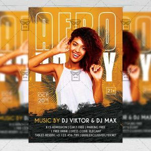 Afro Party - Flyer PSD Template