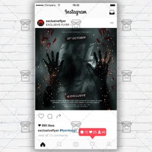 Halloween Affair - Instagram Post and Stories PSD Template