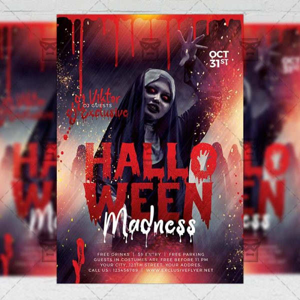 Halloween Madness - Flyer PSD Template