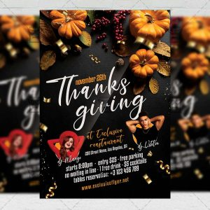 Happy Thanksgiving - Flyer PSD Template