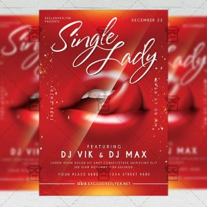 Single Lady - Flyer PSD Template