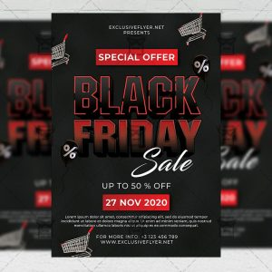Black Friday Sale - Flyer PSD Template
