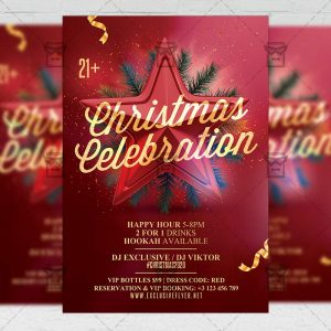 Christmas Celebration - Flyer PSD Template