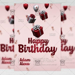 Happy Birthday - Flyer PSD Template