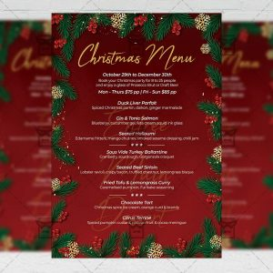 Christmas Menu Set - Flyer PSD Template