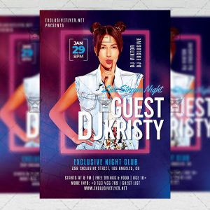 Guest Dj - Flyer PSD Template