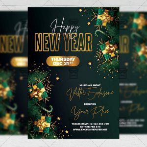 Happy New Year - Flyer PSD Template