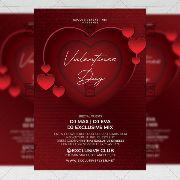 Happy Valentines Day - Flyer PSD Template
