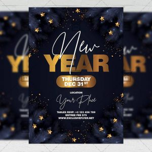New Year - Flyer PSD Template