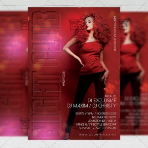 Night Club - Flyer PSD Template