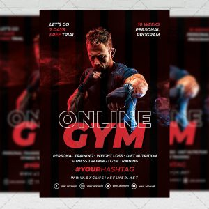Online GYM - Flyer PSD Template