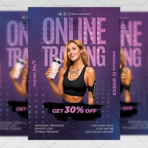 Online Training - Flyer PSD Template