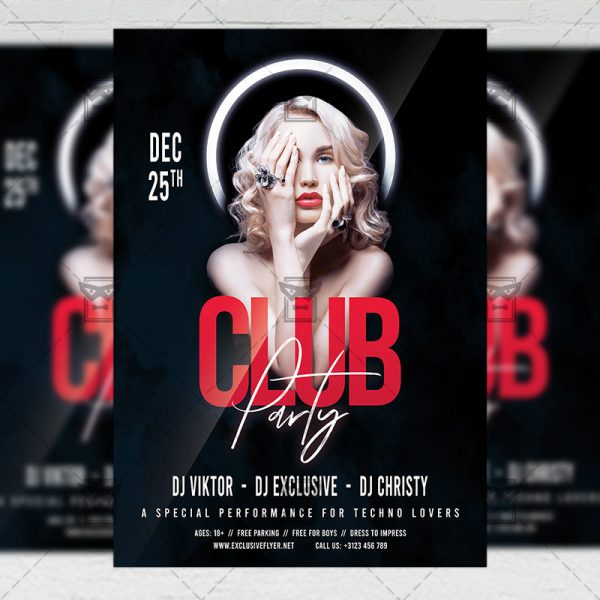 Party Club - Flyer PSD Template