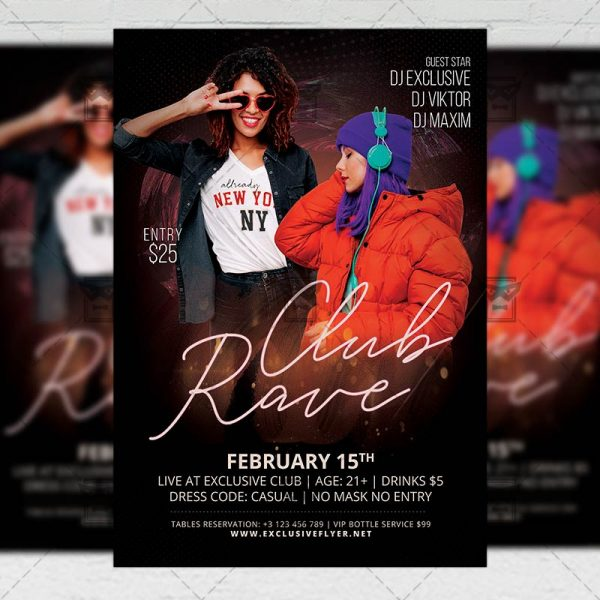 Rave Club - Flyer PSD Template