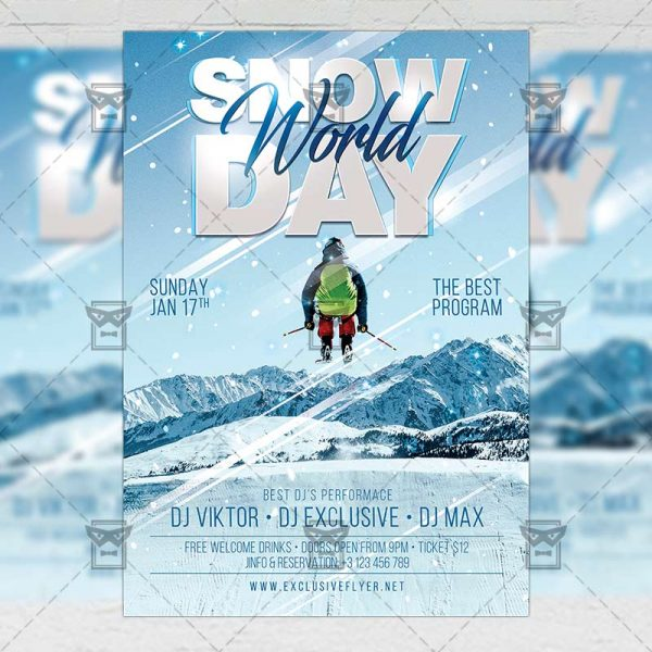 Snow Day - Flyer PSD Template