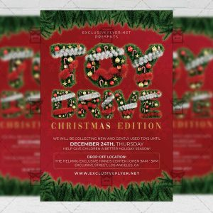 Toy Drive - Flyer PSD Template
