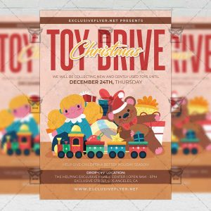 Toys Drive - Flyer PSD Template
